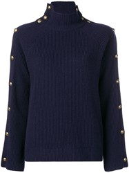 Ralph Lauren Collection Buttoned Jumper Blue