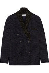 Vionnet Double Breasted Chunky Knit Blazer Black