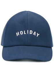 Holiday Logo Embroidered Cap Blue