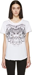 Alexander Mcqueen White Tattoo T Shirt