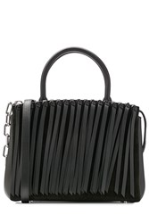 Alexander Wang Leather Tote With Shoulder Strap Black