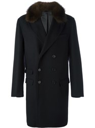 Ermanno Scervino Flap Pockets Double Breasted Coat Black