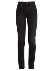 Rockins High Rise Straight Leg Jeans Black