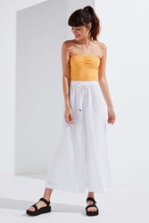 Urban Outfitters Uo Alice Poplin Wide Leg Pant White