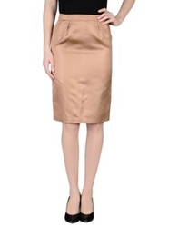Normaluisa Knee Length Skirts Camel
