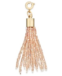 Inc International Concepts Gold Tone Beaded Tassel Charm Only At Macy's Blush