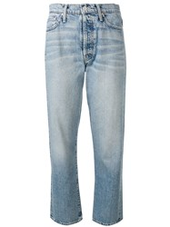 Mother Faded Slim Jeans Blue
