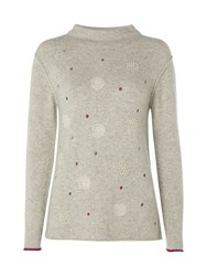 White Stuff Solar Spot Jumper Grey