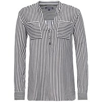Tommy Hilfiger Esther Blouse Taylor Stripe Large Caviar