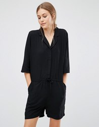 Just Female Hector Playsuit Black