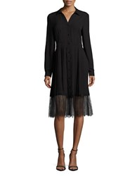 Vero Moda Pleated Spread Collar Shirtdress Black