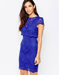 Jessica Wright Lucinda Lace Overlay Dress Blue