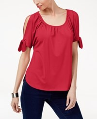 Inc International Concepts Cold Shoulder T Shirt Only At Macy's Real Red