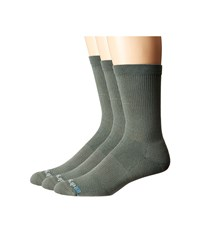 Drymax Sport Performance Casual Crew 3 Pair Sage Green Crew Cut Socks Shoes