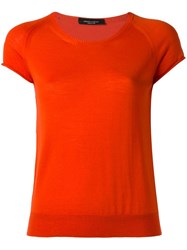 Roberto Collina Round Neck Knitted T Shirt Yellow Orange