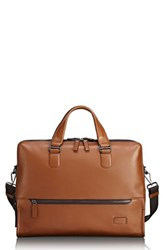 Tumi Harrison Horton Briefcase Brown Umber Pebbled