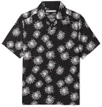 Neighborhood Camp Collar Printed Lyocell Shirt Black
