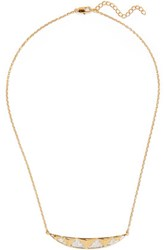 Noir Jewelry Taken Gold Tone Crystal Necklace One Size