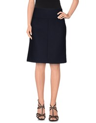 Laura Urbinati Skirts Knee Length Skirts Women Dark Blue