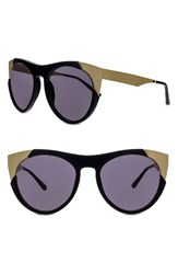 Smoke X Mirrors Women's Zoubisou 53Mm Cat Eye Sunglasses Black Brushed Gold Black Brushed Gold