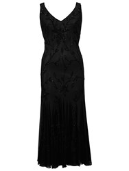 Chesca All Over Beaded Dress Black