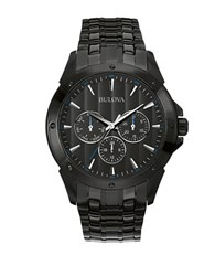Bulova Multi Function Stainless Steel Watch Black