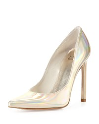 Queen Iridescent Point Toe Pump Cava Stuart Weitzman