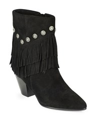 Belle By Sigerson Morrison Yardley Suede Ankle Boots Black