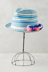 Anthropologie Pommed Market Fedora Blue