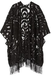 Tart Collections Tama Fringed Crocheted Wrap Black