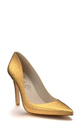 Women's Shoes Of Prey Pointy Toe Pump Gold Glitter