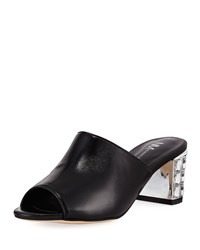 Neiman Marcus Carly Slide Mule Black