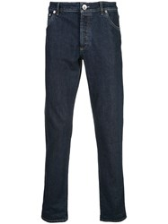 Brunello Cucinelli Turned Up Jeans Blue