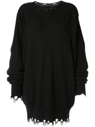 Unravel Project Ribbed Sweater Dress Black
