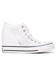 Converse High Top Concealed Wedge Sneakers White