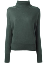 Closed Roll Neck Jumper Green