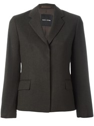 Each X Other Concealed Fastening Blazer Brown