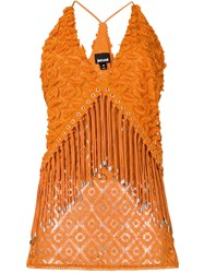 Just Cavalli Fringe Top Orange