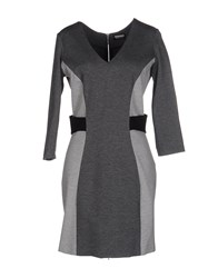 Dirk Bikkembergs Sport Couture Short Dresses Grey