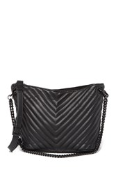 Steve Madden Jaime Quilted Chevron Mini Bucket Bag Blk Blk