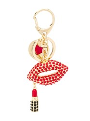 Love Moschino Lips Logo Embellished Keyring 60