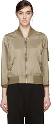 Nlst Khaki Satin Flight Jacket