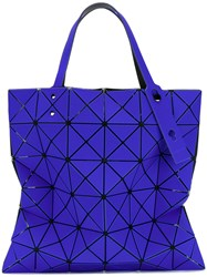 Issey Miyake Bao Bao Embroidered Tote Women Pvc One Size Blue