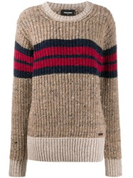 Dsquared2 Knitted Jumper Neutrals