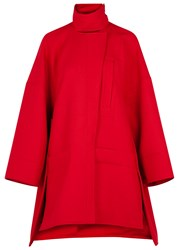 Paco Rabanne Red Oversized Wool Coat