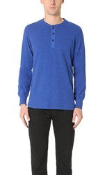 Rag And Bone Standard Issue Classic Henley Bright Blue