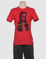 Exte Topwear Short Sleeve T Shirts Men Red