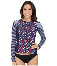 Sperry Cherry On Top Rashguard Midnight Women's Swimwear Navy