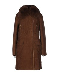 Class Roberto Cavalli Coats And Jackets Coats Women Khaki