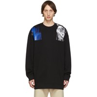 Raf Simons Black Oversized Patches Sweatshirt